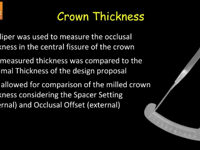 5. PBN Onlay Occlusal Offset Setting Study - Crown Thickness Data
