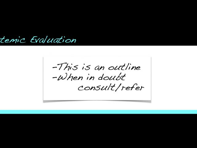 Systemic Evaluation