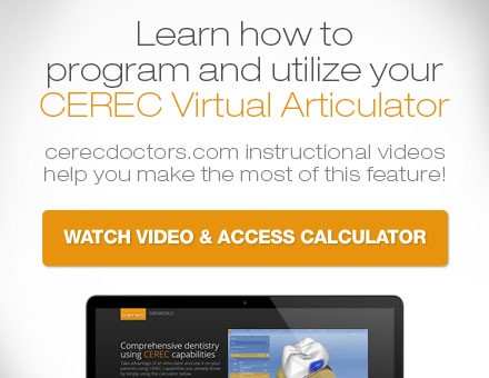 Learn how to program and utilize your CEREC Virtual Articulator